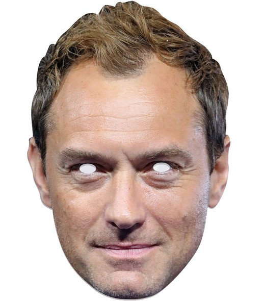 Jude Law Single 2D Card Party Face Mask