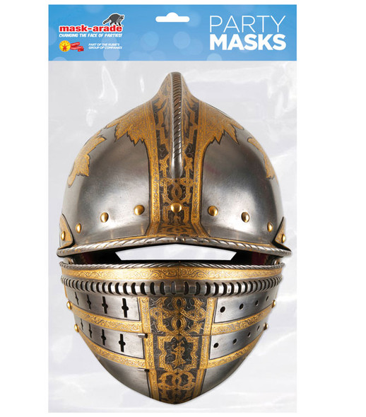 Medieval Knight's Helmet Historical Single 2D Card Party Face Mask