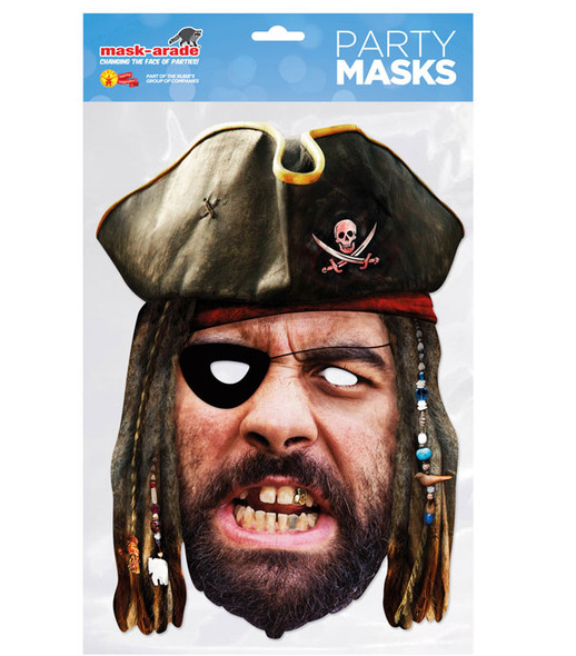 Pirate Historical Single 2D Card Party Face Mask