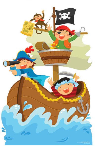 Pirate Ship Adventure Mini Cardboard Cutout / Standee