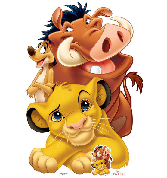 Lion King Simba Timon and Pumbaa Group Cardboard Cutout