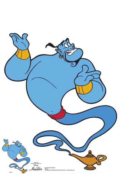 Genie from Aladdin Classic Disney Lifesize Cardboard Cutout / Standee