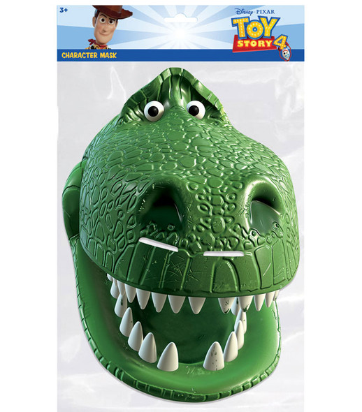 Rex Toy Story 4 Official Single 2D Card Party Face Mask