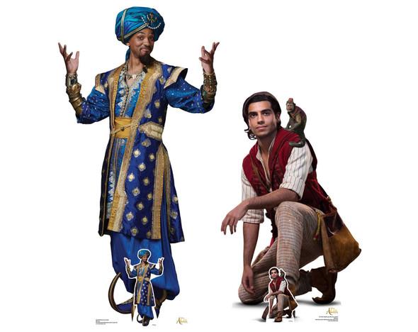 Aladdin & The Genie from Disney's Aladdin Official Lifesize Cardboard Cutout - Set of 2