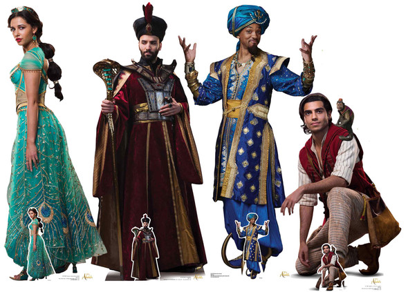Aladdin from Disney Official Lifesize Cardboard Cutouts - Set of 4
