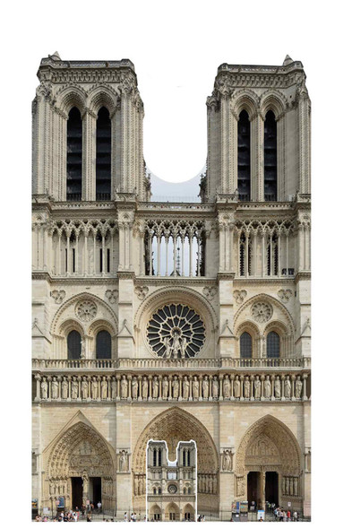 Notre Dame Cathedral Cardboard Cutout / Standee / Standup