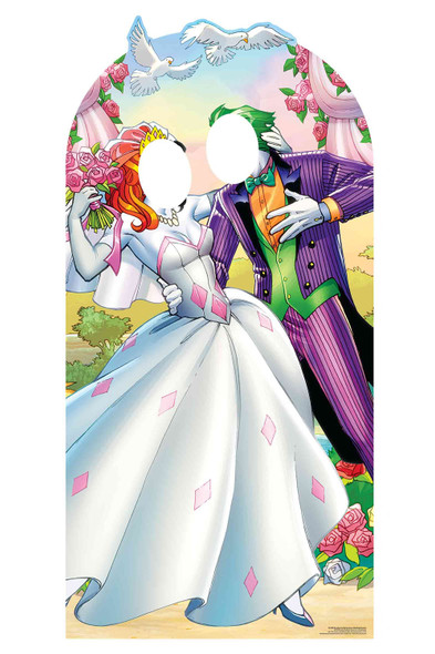 Harley Quinn and The Joker Wedding Style Official Lifesize Stand In Cardboard Cutout