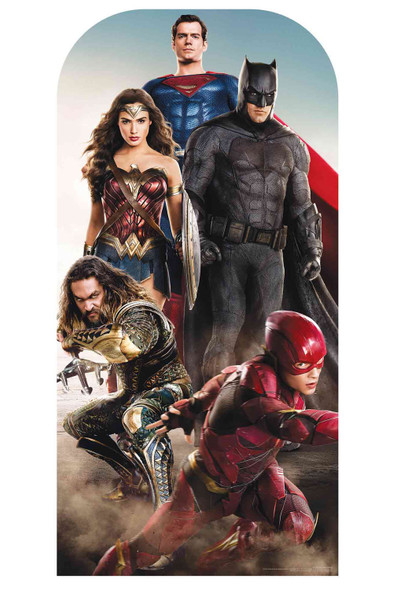 Justice League Live Action Official Stand In Cardboard Cutout with Faces