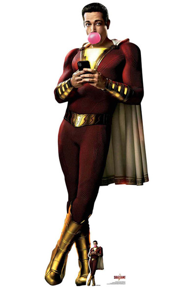 Shazam with Bubblegum Official Lifesize Cardboard Cutout / Standup