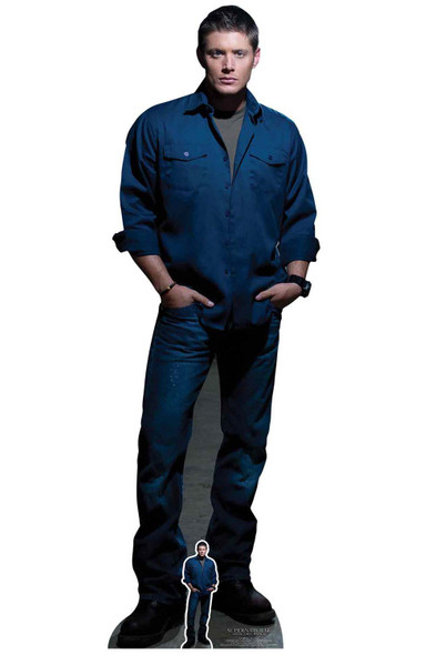 Dean Winchester Blue Shirt from Supernatural Official Lifesize Cardboard Cutout