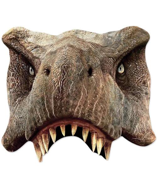 Tyrannosaurus Rex Jurassic World 2D Single Card Party Half Face Mask