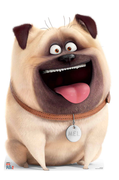 Mel Pug Dog from The Secret Life Of Pets 2 Cardboard Cutout / Standup
