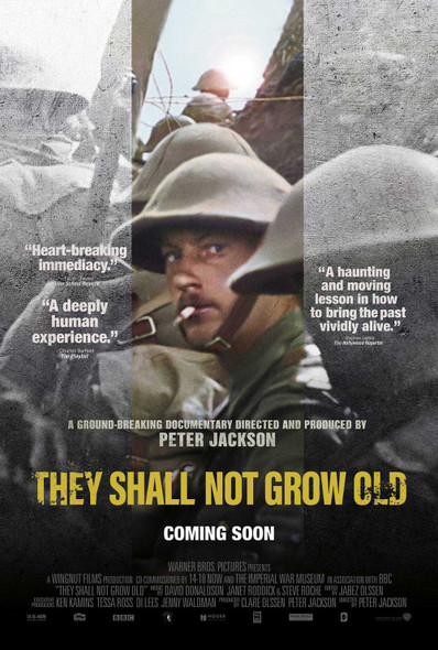 They Shall Not Grow Old Original Movie Poster – Double Sided Final Style
