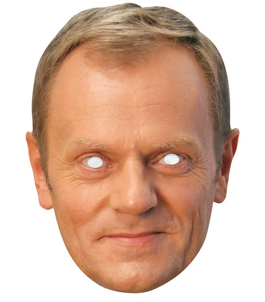Donald Tusk Single 2D Card Party Face Mask