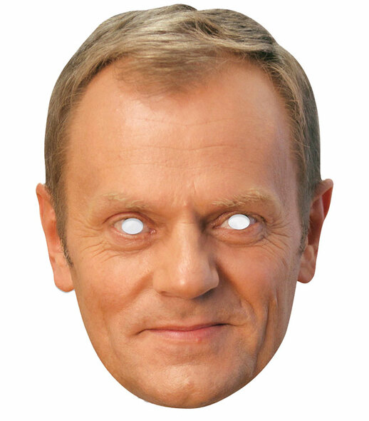Donald Tusk Single 2D Card Party Face Mask