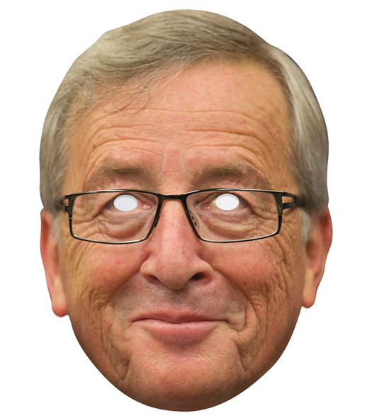 Jean-Claude Juncker Single 2D Card Party Face Mask
