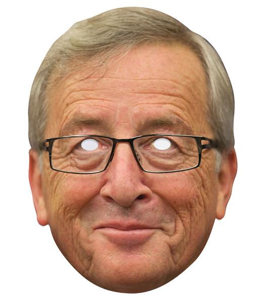 Jean-Claude Juncker Single 2D Card Party Face Mask