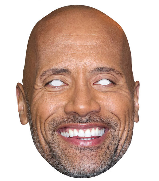 Dwayne Johnson Single 2D Card Party Face Mask