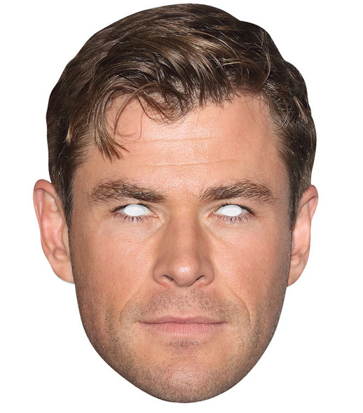 Chris Hemsworth Celebrity Single 2D Card Party Face Mask