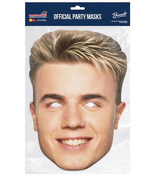Gary Barlow Retro Style Take That Official 2D Card Party Face Mask