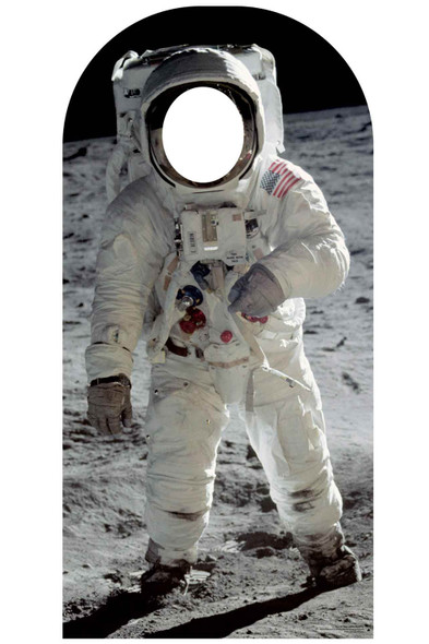 Buzz Aldrin Astronaut Lifesize Stand-In Cardboard Cutout