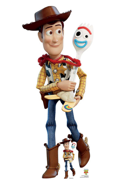 Woody and Forky Official Toy Story 4 Lifesize Cardboard Cutout
