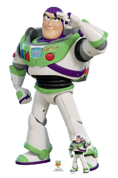 Buzz Lightyear Saluting Official Disney Toy Story 4 Lifesize Cardboard Cutout