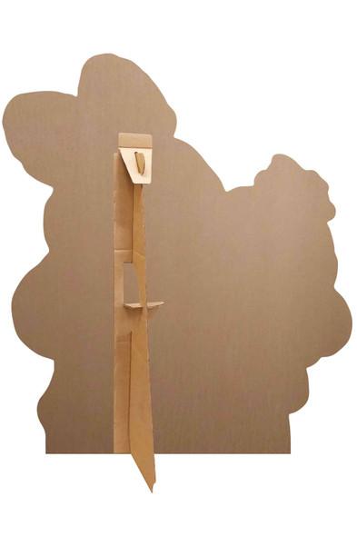 Rear of Bunny & Ducky Cardboard Cutout as set up