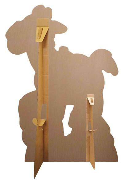 Rear of Bullseye Toy Story 4 Lifesize Cardboard Cutout as set up