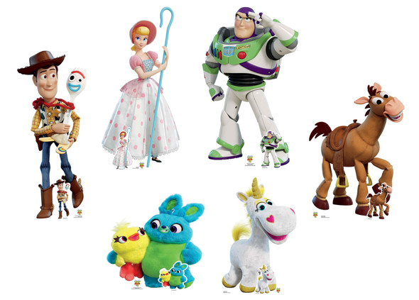 Toy Story 4 Official Disney Lifesize Cardboard Cutouts - Set of 6