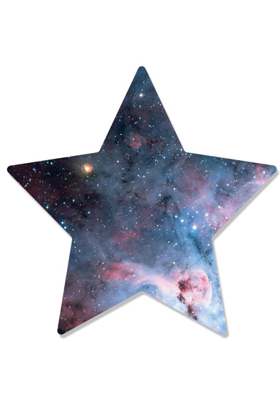 Stars within a Star Wall Mounted 3D Effect Cardboard Cutout