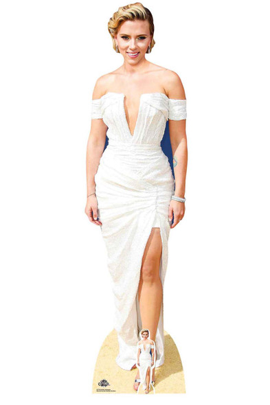 Scarlett Johansson White Dress Lifesize Cardboard Cutout / Standee