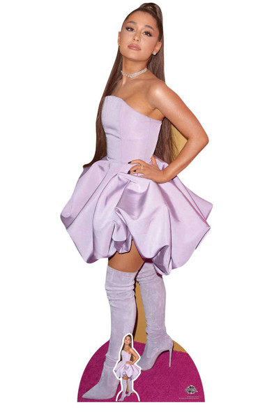 Ariana Grande Purple Dress Lifesize Cardboard Cutout / Standee