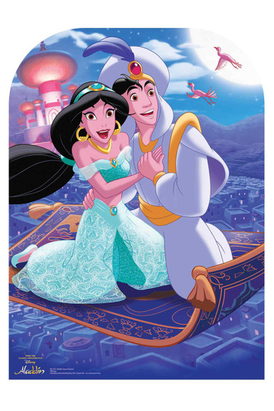 Aladdin and Jasmine from Disney's Aladdin Official Cardboard Cutout Scene