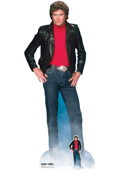 David Hasselhoff as Knight Rider Official Lifesize Cardboard Cutout