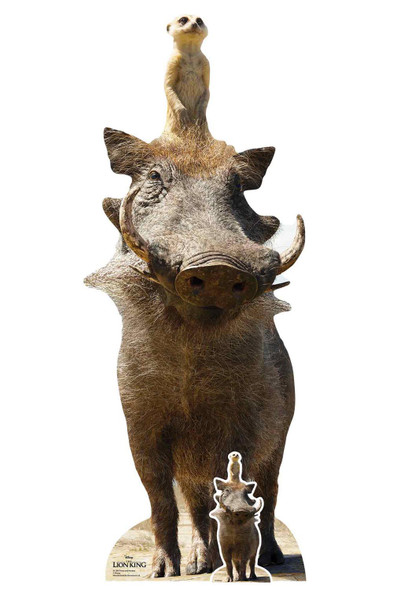 Timon and Pumbaa from The Lion King Live Action Style Official Cardboard Cutout