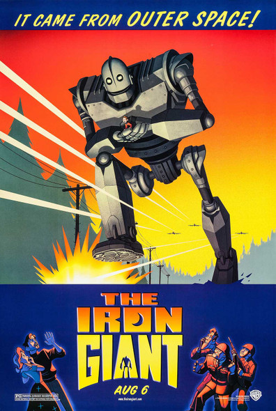 The Iron Giant Original Movie Poster Rare - Advance Style