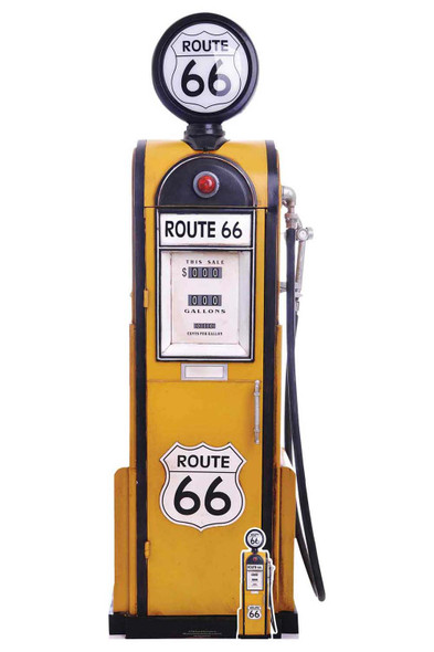 Route 66 Retro Gas Pump Cardboard Cutout