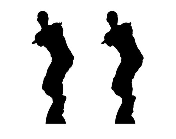 Dancing Gamer Silouette Double Pack Lifesize Cardboard Cutout