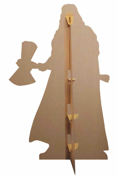 Rear of Thor Stormbreaker Cardboard Cutout