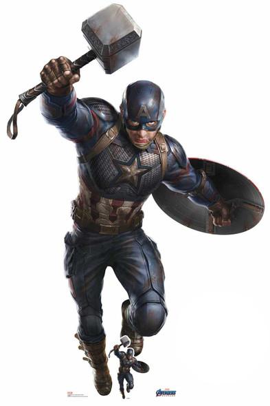 Captain America Mjolnir Marvel Avengers: Endgame Giant Cardboard Cutout