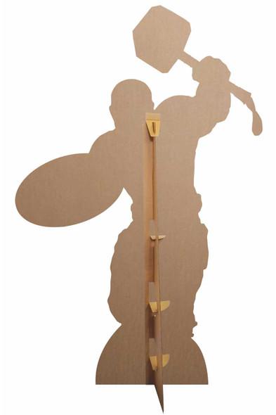 Rear of Captain America Mjolnir Giant Cardboard Cutout