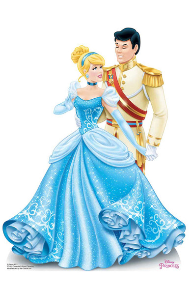 Princess Cinderella and Prince Charming Disney Official Cardboard Cutout
