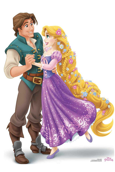 Princess Rapunzel and Prince Flynn Rider Official Disney Cardboard Cutout