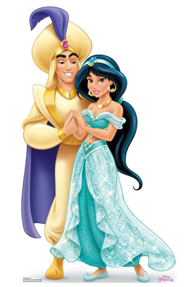 Princess Jasmine and Aladdin Official Disney Cardboard Cutout