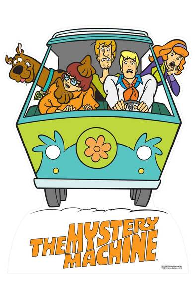 Fred's Mystery Machine Van from Scooby Doo Cardboard Cutout