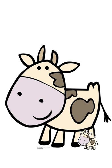 Cute Farmyard Cow Cardboard Cutout / Standee / Standup