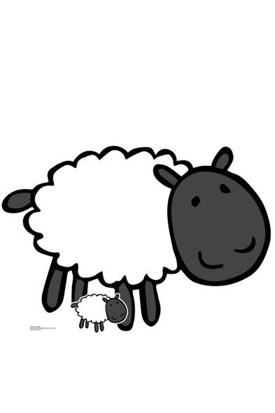 Cute Farmyard Sheep Cardboard Cutout