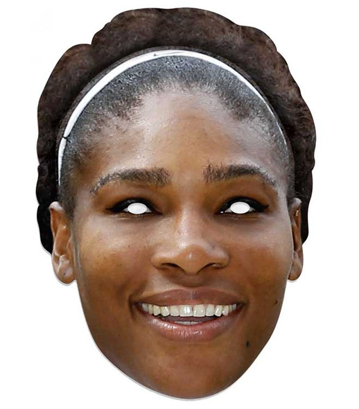 Serena Williams Tennis Celebrity 2D Single Card Party Face Mask