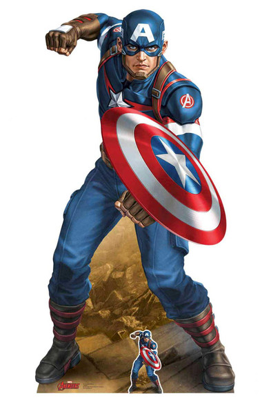 Captain America Vibranium Shield Marvel Legends Cardboard Cutout